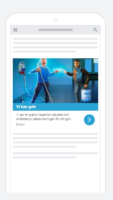 Exempel på bild till digital marknadsföring för Eradur