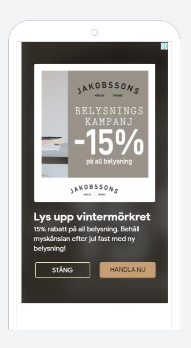 Exempel på bild till digital marknadsföring för Jakobssons möbler