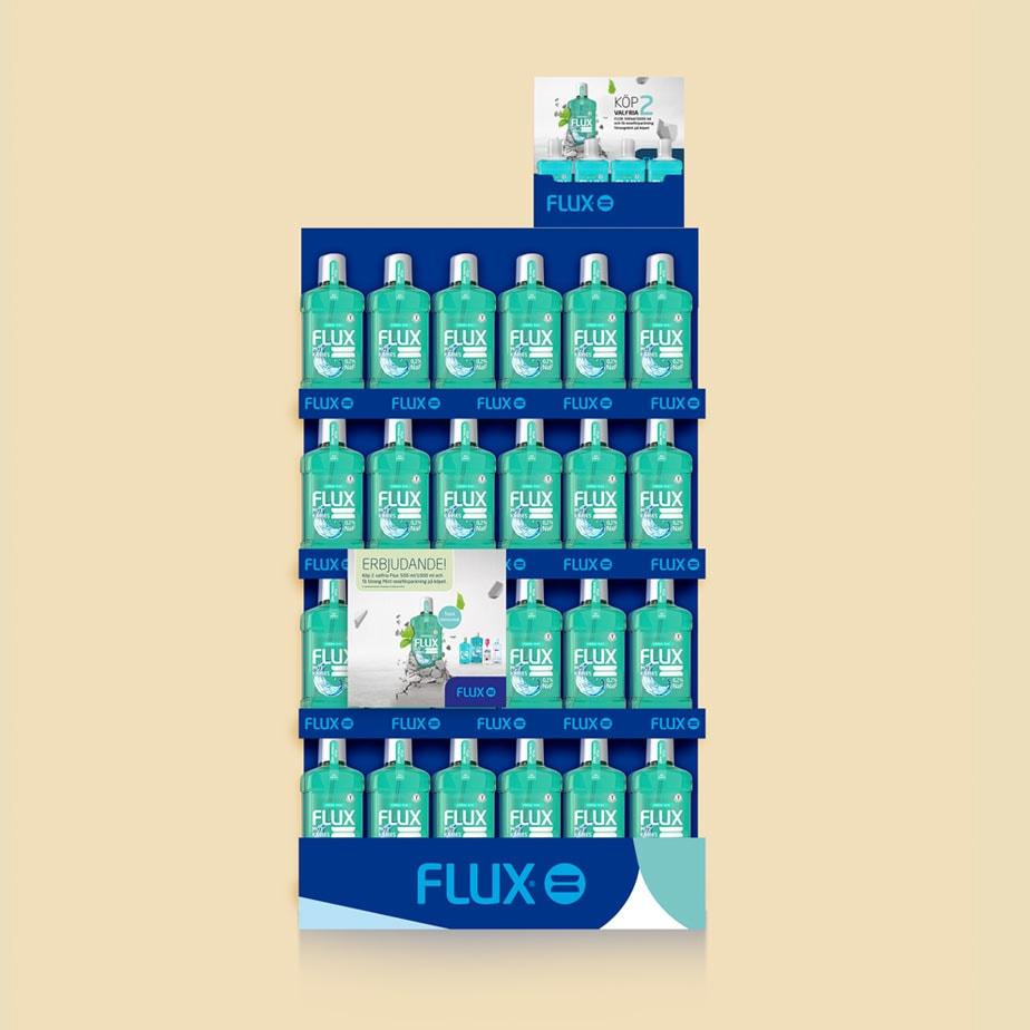 Flux Fluor, butiksställ med munskölj