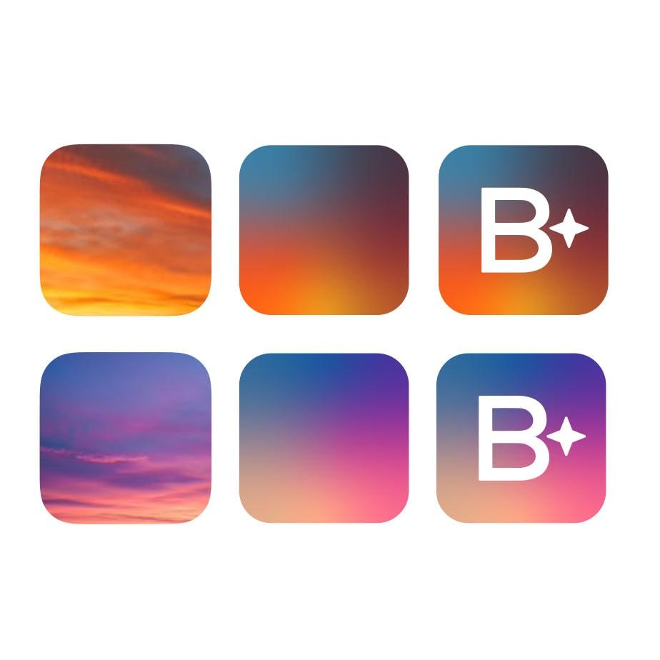 Exempel på färgkombination för Brightec