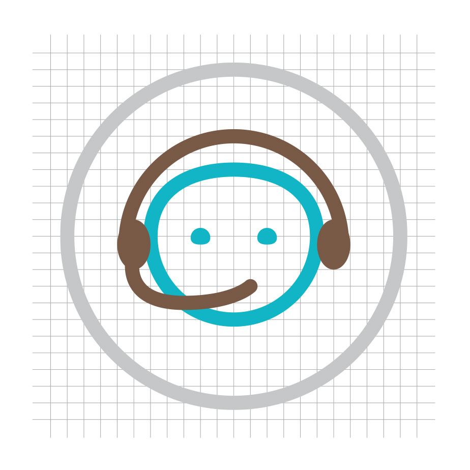Exmpel på icon-manér för Brightec