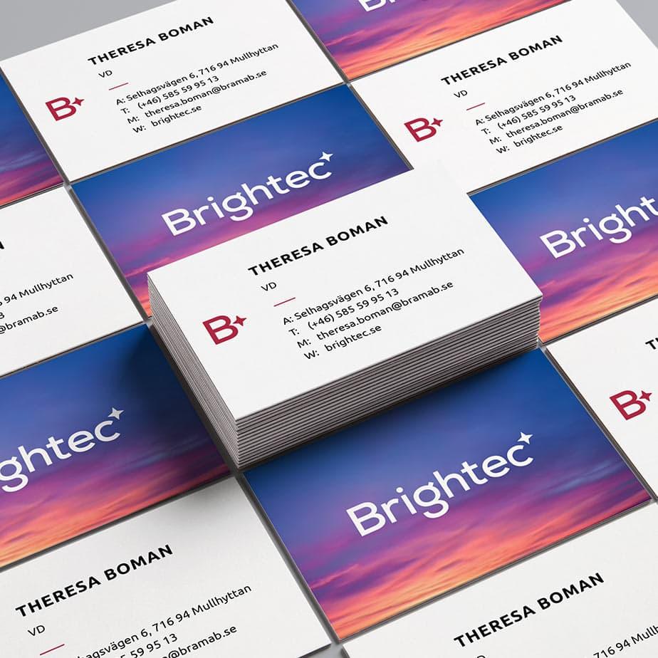 Visitkort för Brightec