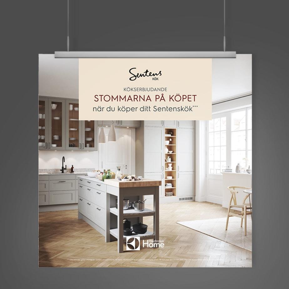 Skylt för Sentens kök, Electrolux Home