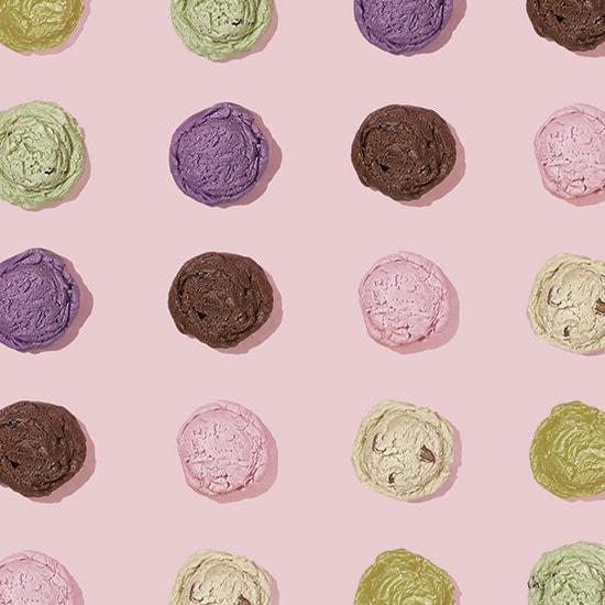 Macarones i olika färger