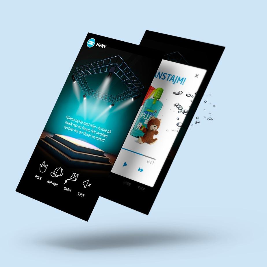 Smartphones med musikdelen i Flux-appen